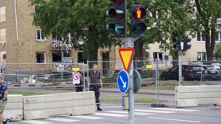 Explosionen i Linköping den 7 juni 2019. Foto: Sveriges Radio